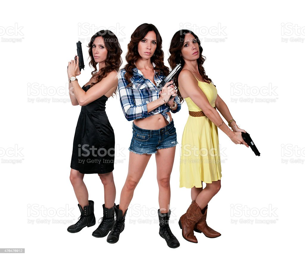 Female Detectives stock photo