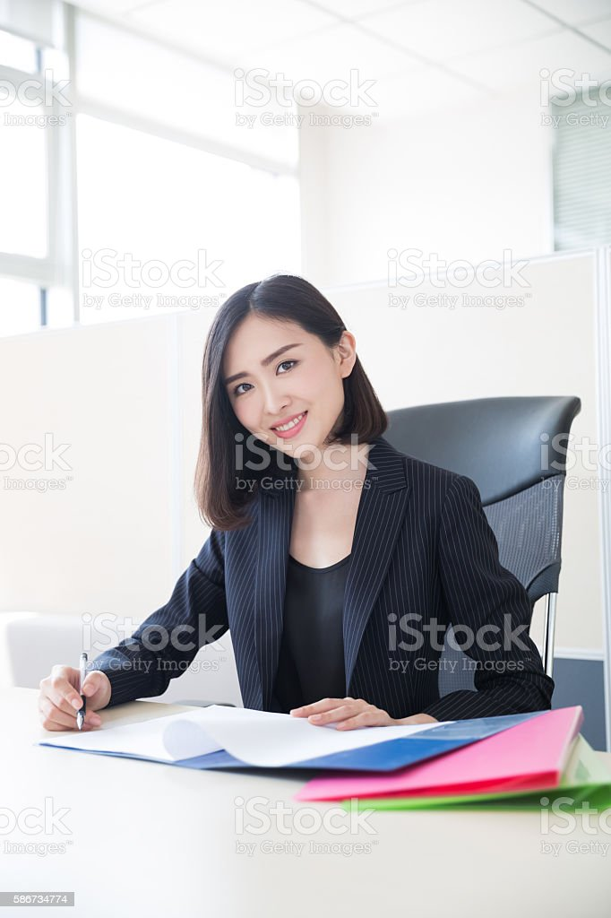 female director approval documents stock photo