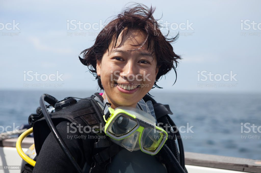 female diver royalty-free stock photo