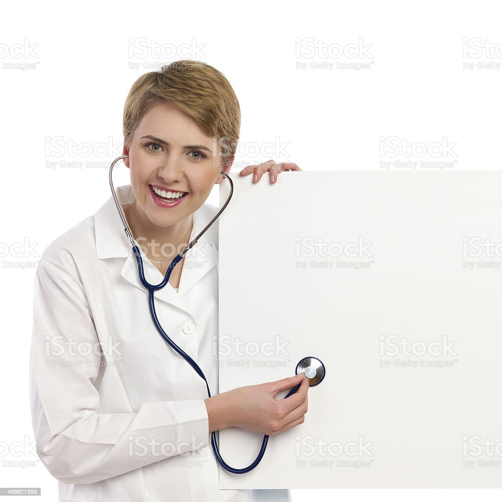 Female doctor examining copy space. royalty-free stock photo