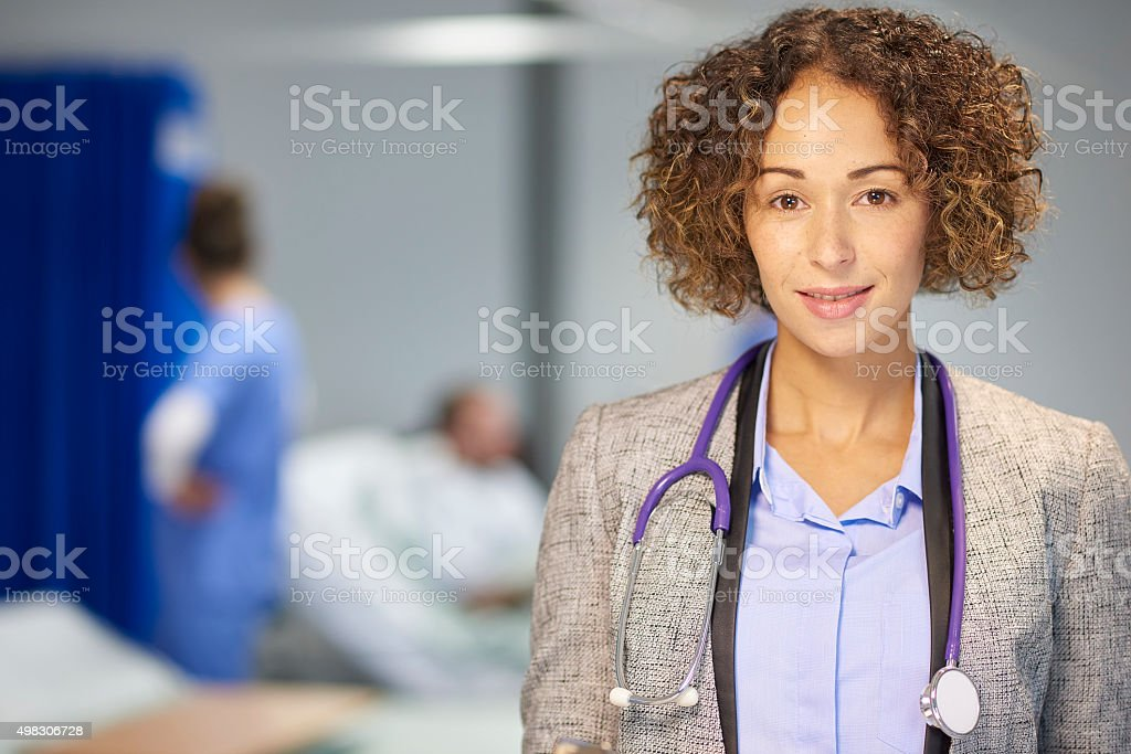 female doctor  in hospital stock photo