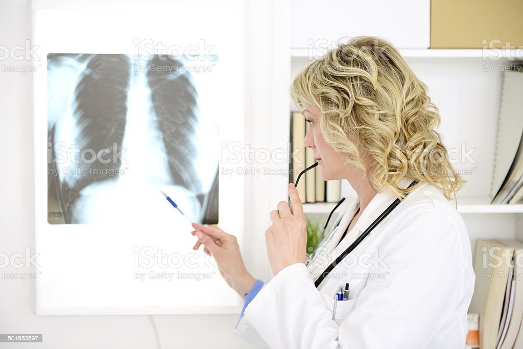 female doctor in medical office royalty-free stock photo