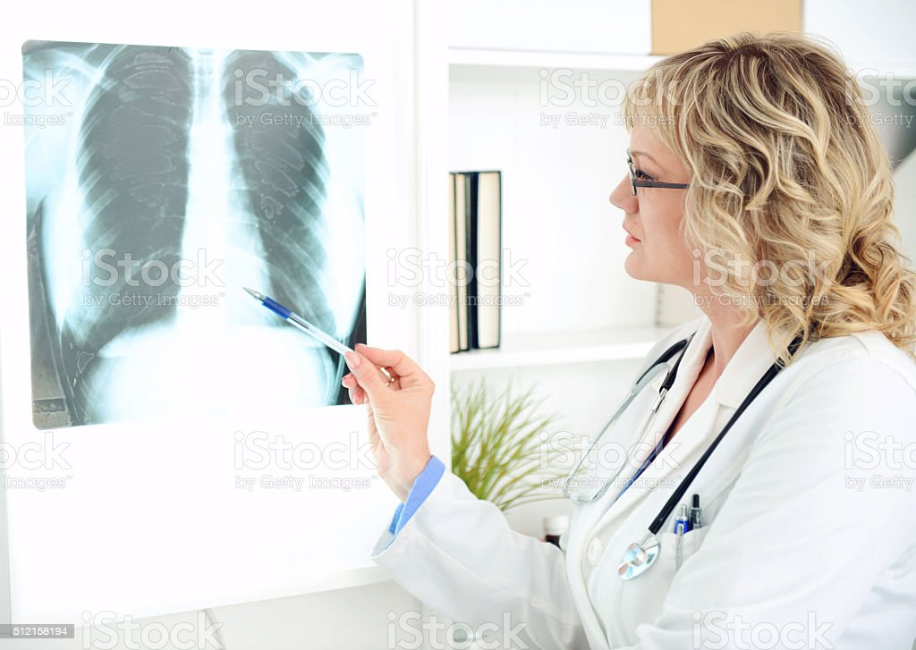 female doctor in medical office stock photo