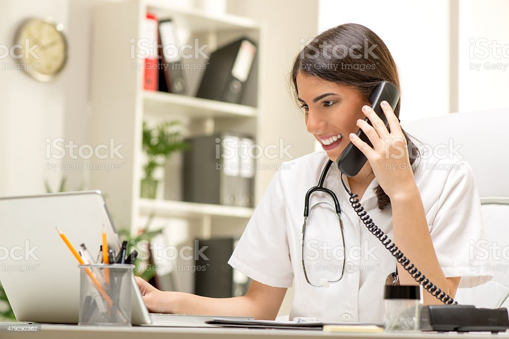 Female Doctor In The Office stock photo
