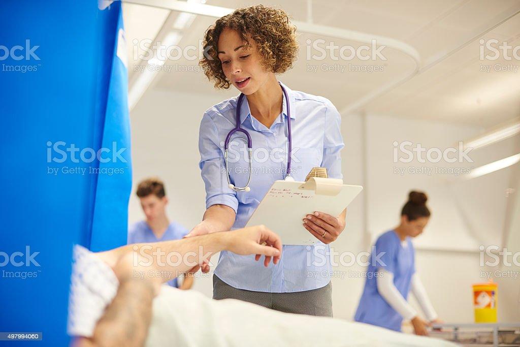 female doctor on the hospital ward stock photo