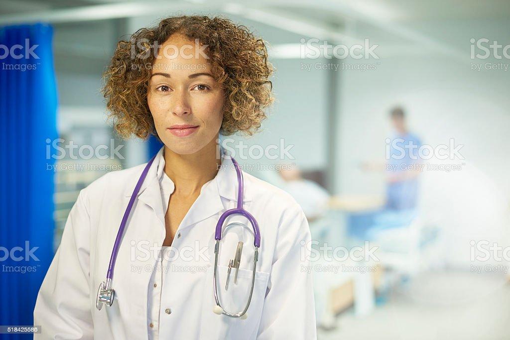 female doctor portrait stock photo