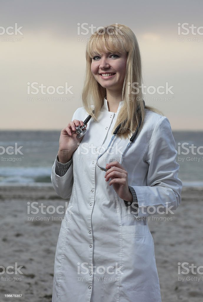 Female doctor smiling. royalty-free stock photo