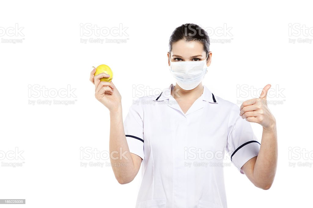 Female doctor with face mask royalty-free stock photo