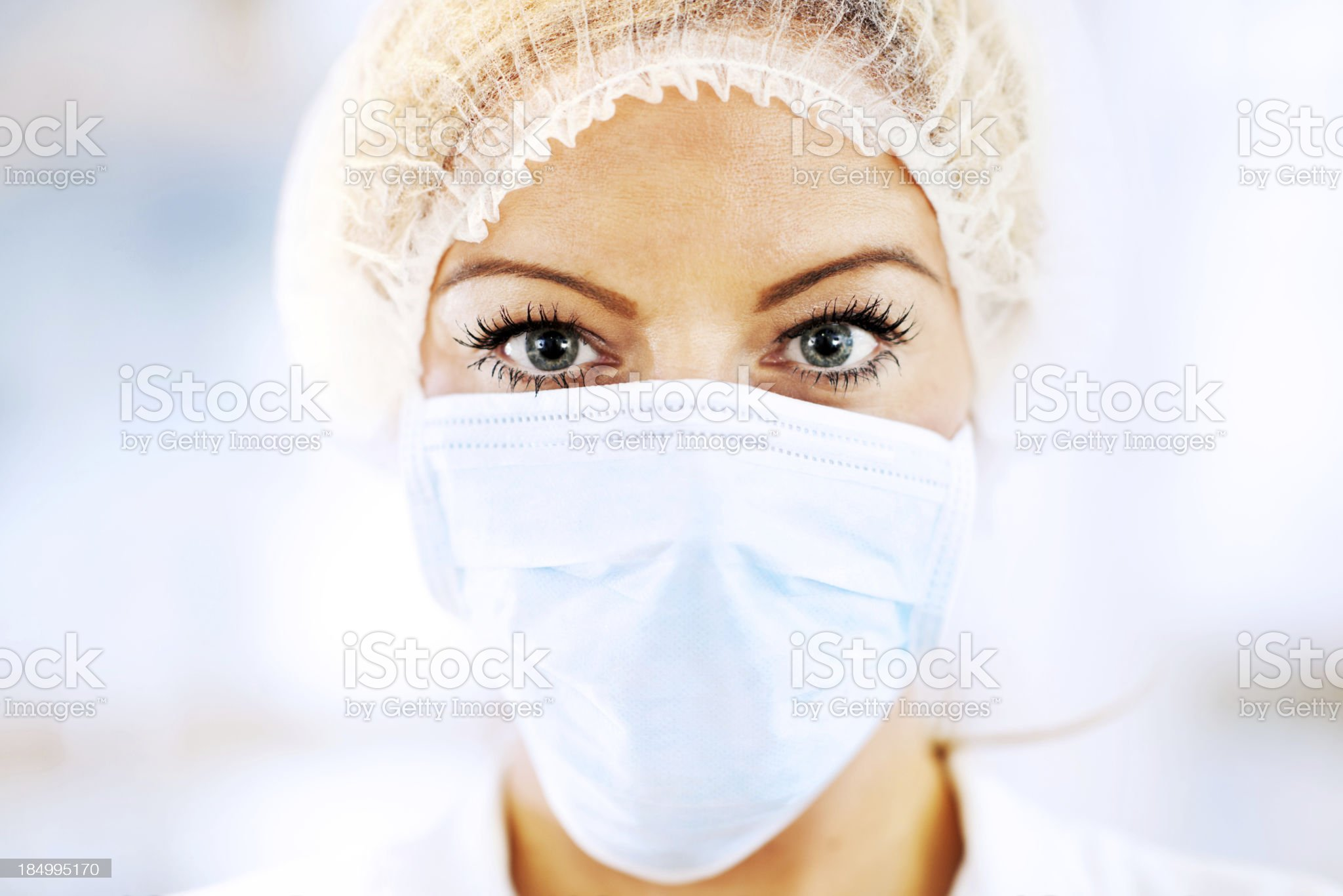 Female doctor with surgical mask. royalty-free stock photo