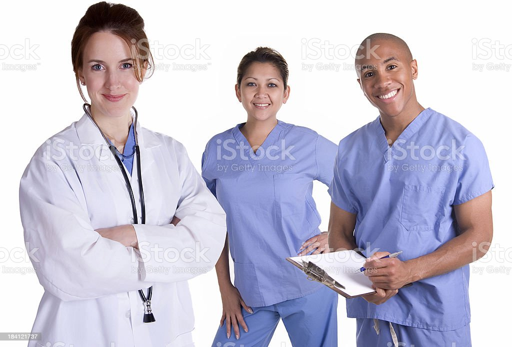 Female Doctor Woman with Team royalty-free stock photo