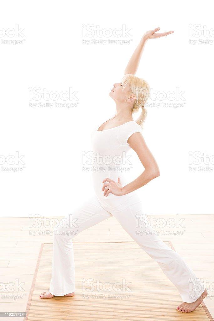 Female doing yoga royalty-free stock photo