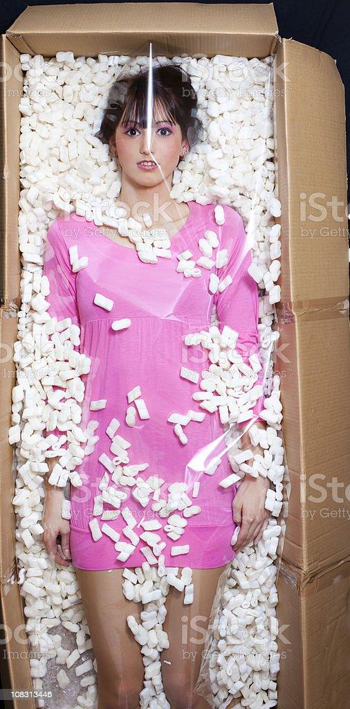 Female Dolly in box stock photo