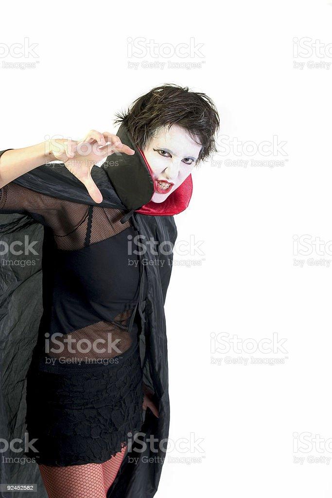 Female Dracula stock photo