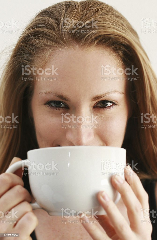Female Drinking royalty-free stock photo