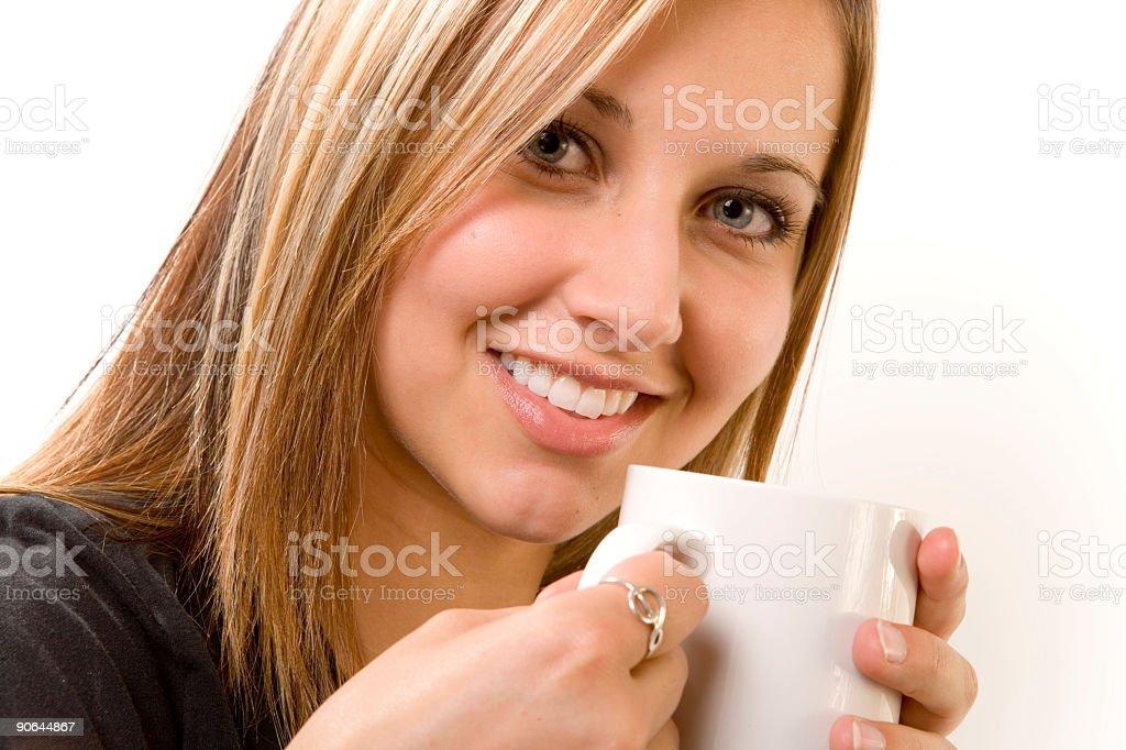 Female Drinking stock photo