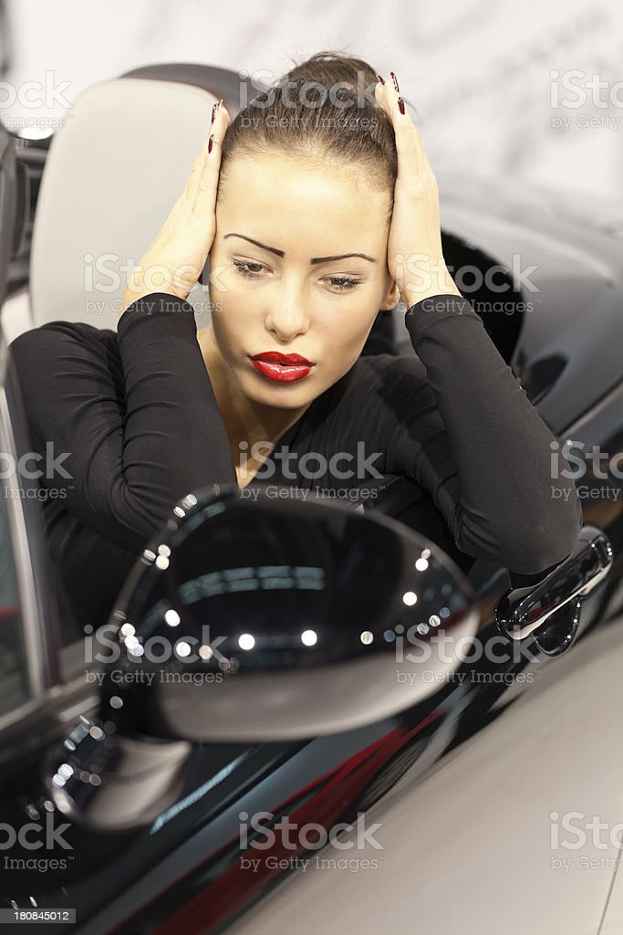Female driver royalty-free stock photo