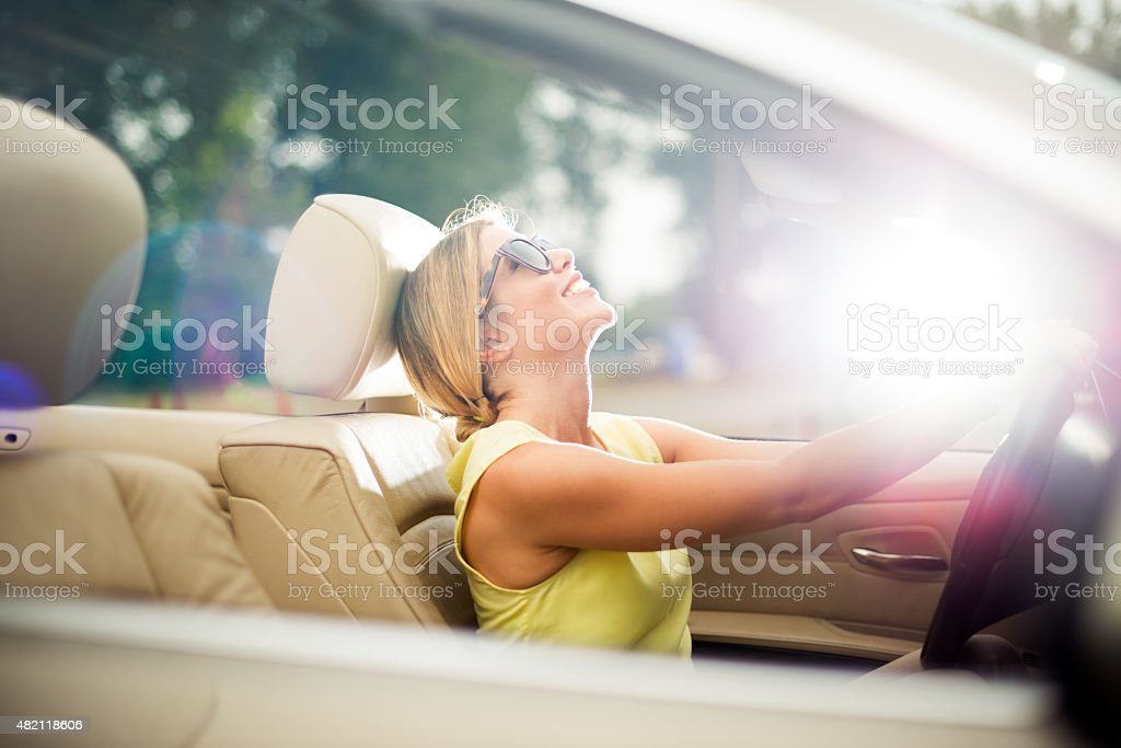 Female driver stock photo