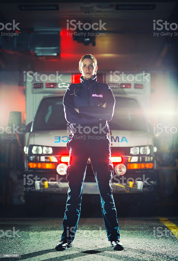 Female EMT stock photo