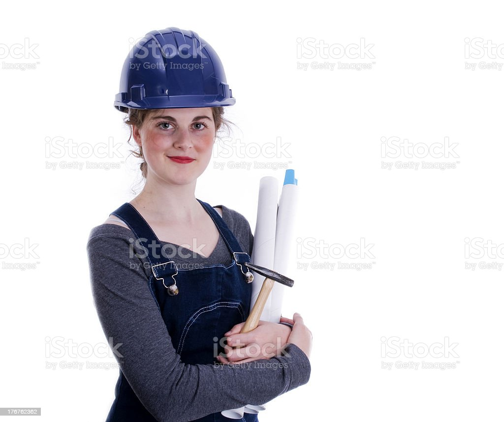 Female Engineer, Construction Worker royalty-free stock photo