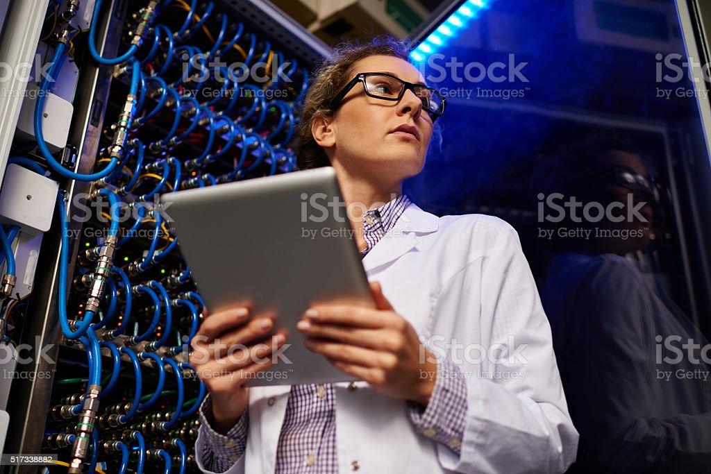 IT female engineer stock photo