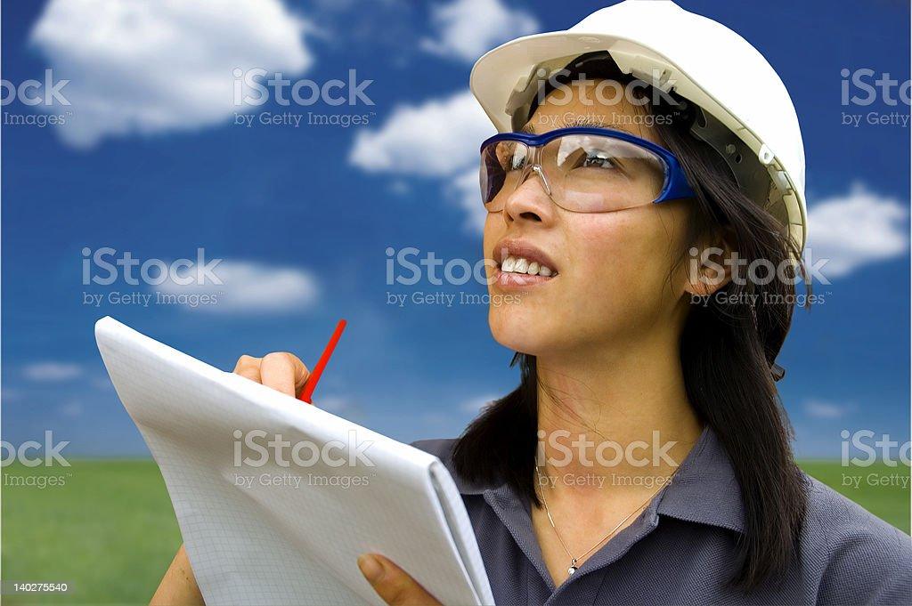 Female Engineer/Inspector royalty-free stock photo