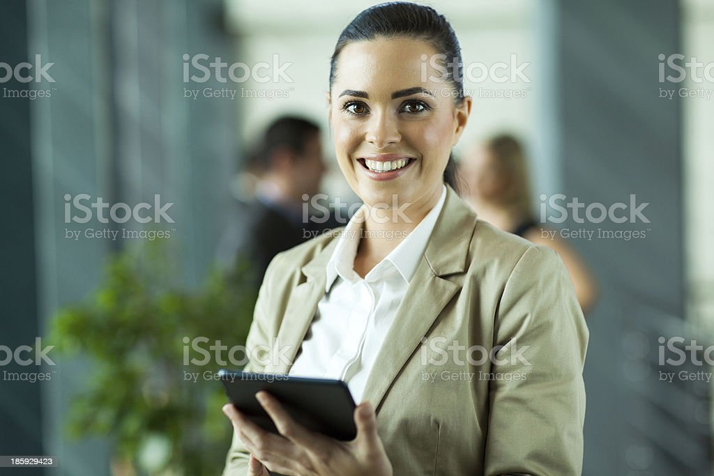 female entrepreneur using tablet computer royalty-free stock photo