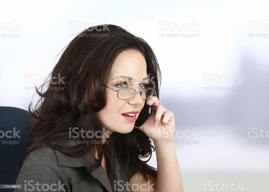 Female Executive On The Phone royalty-free stock photo
