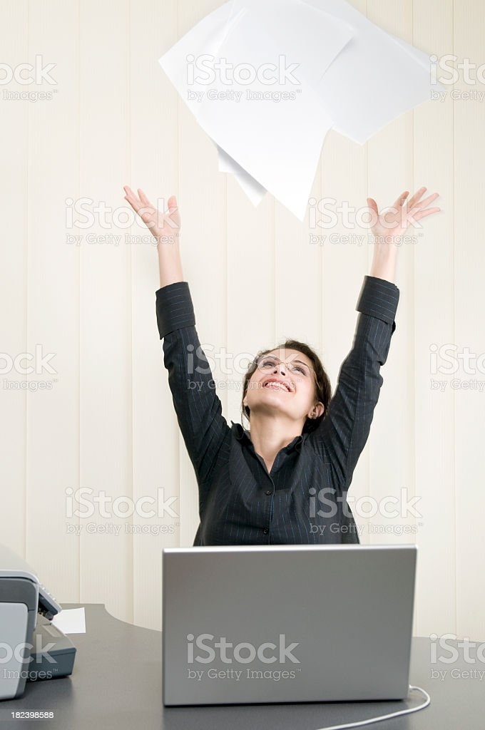 Female executive relieved royalty-free stock photo