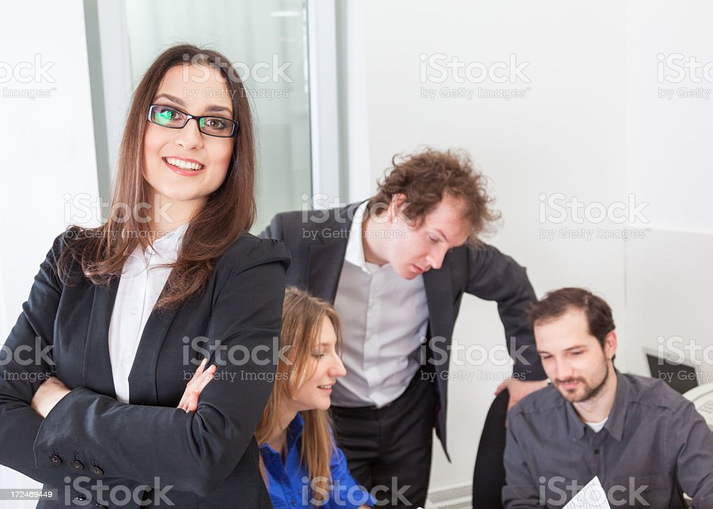 Female executive smiling royalty-free stock photo