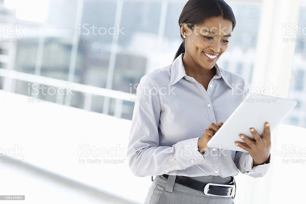 Female executive using digital tablet royalty-free stock photo