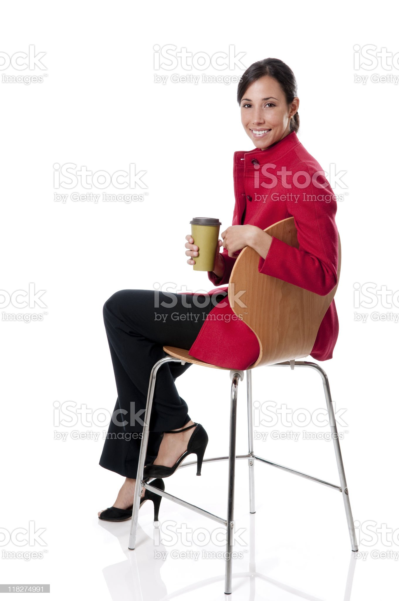 Female Executive With Coffee Cup royalty-free stock photo