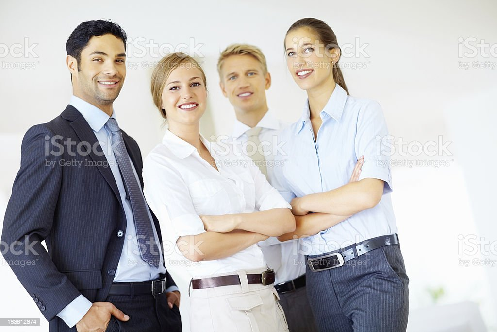 Female executive with colleagues royalty-free stock photo