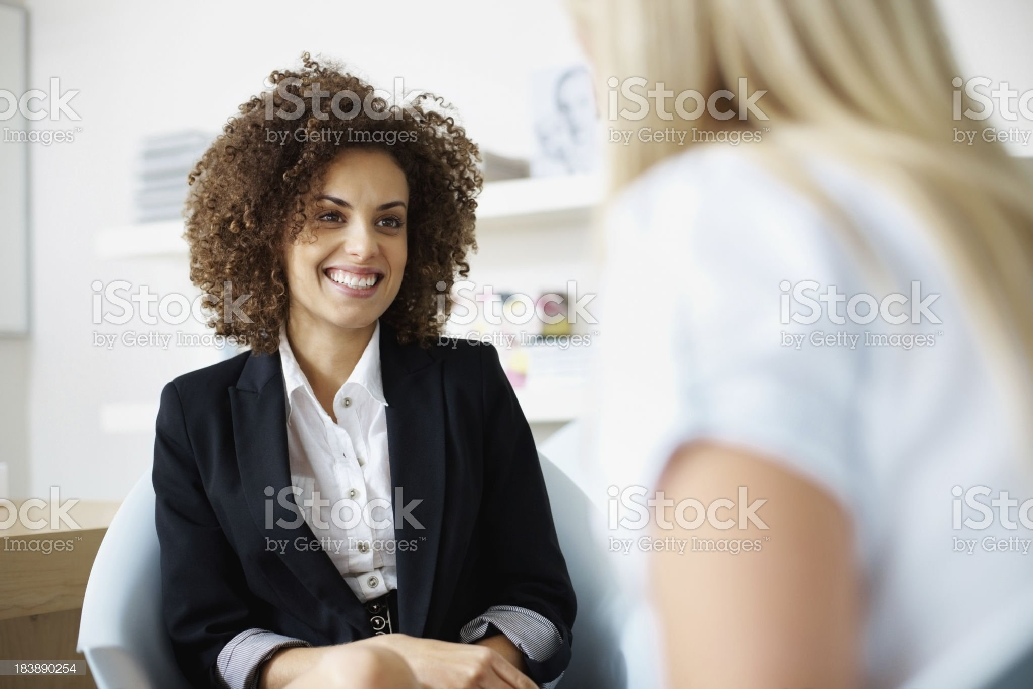 Female executives in discussion royalty-free stock photo
