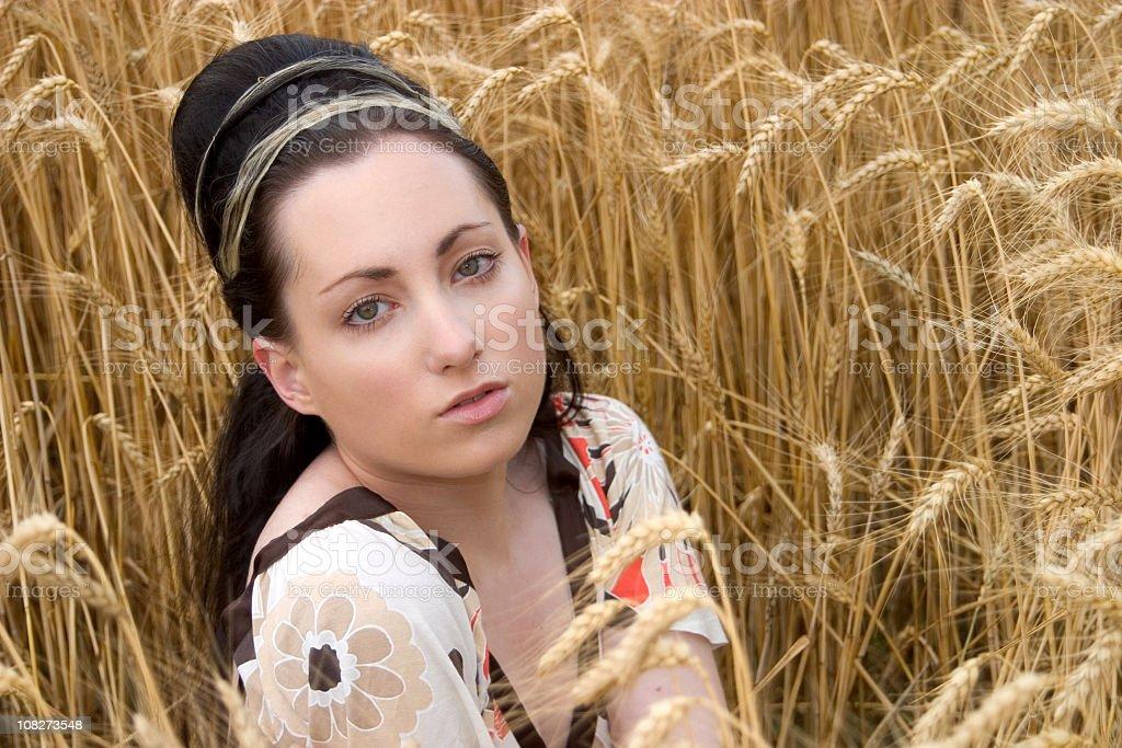 female expression art stock photo