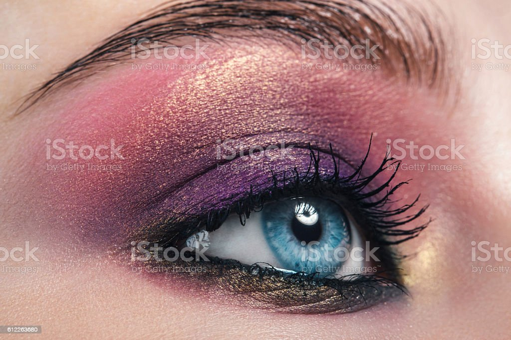 Female eye with make-up stock photo