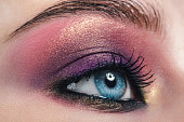 Female eye with make-up