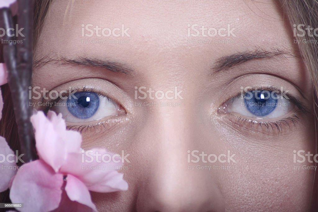 Kobieta oczy Zbliżenie zbiór zdjęć royalty-free