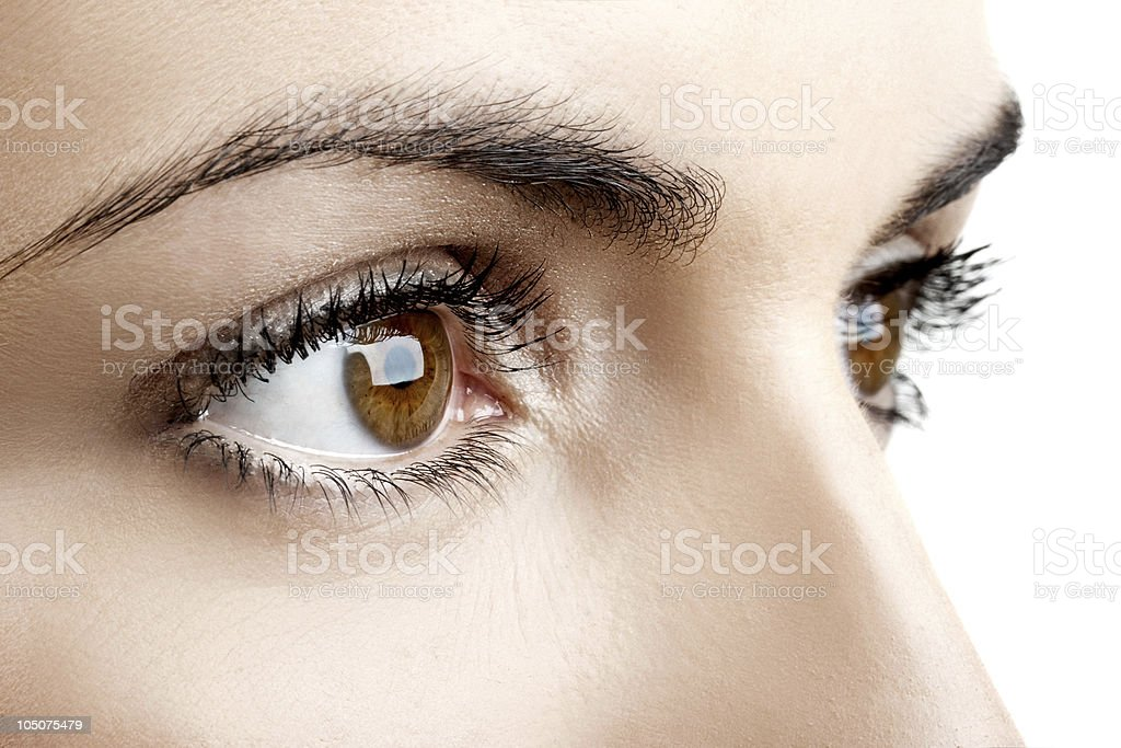 Female eyes stock photo