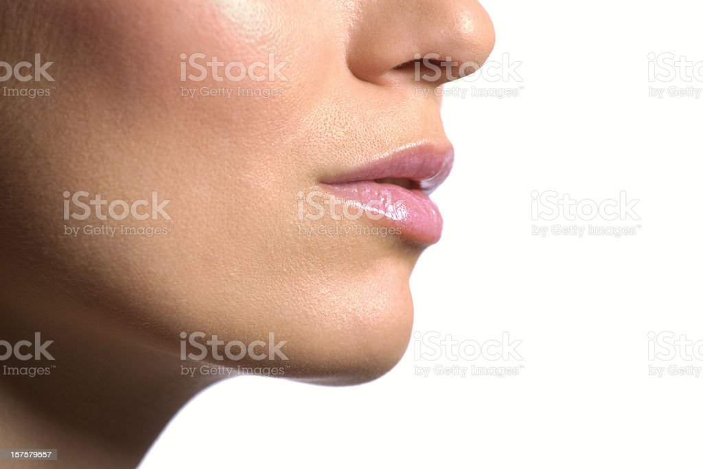 Female Face Close-up stock photo