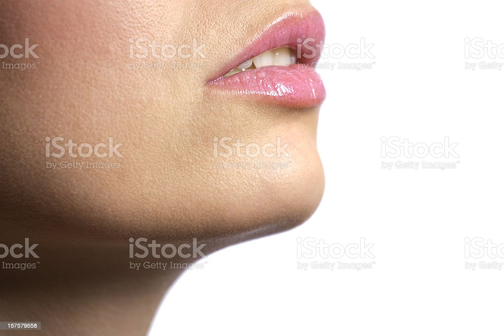 Female Face Close-up stock photo
