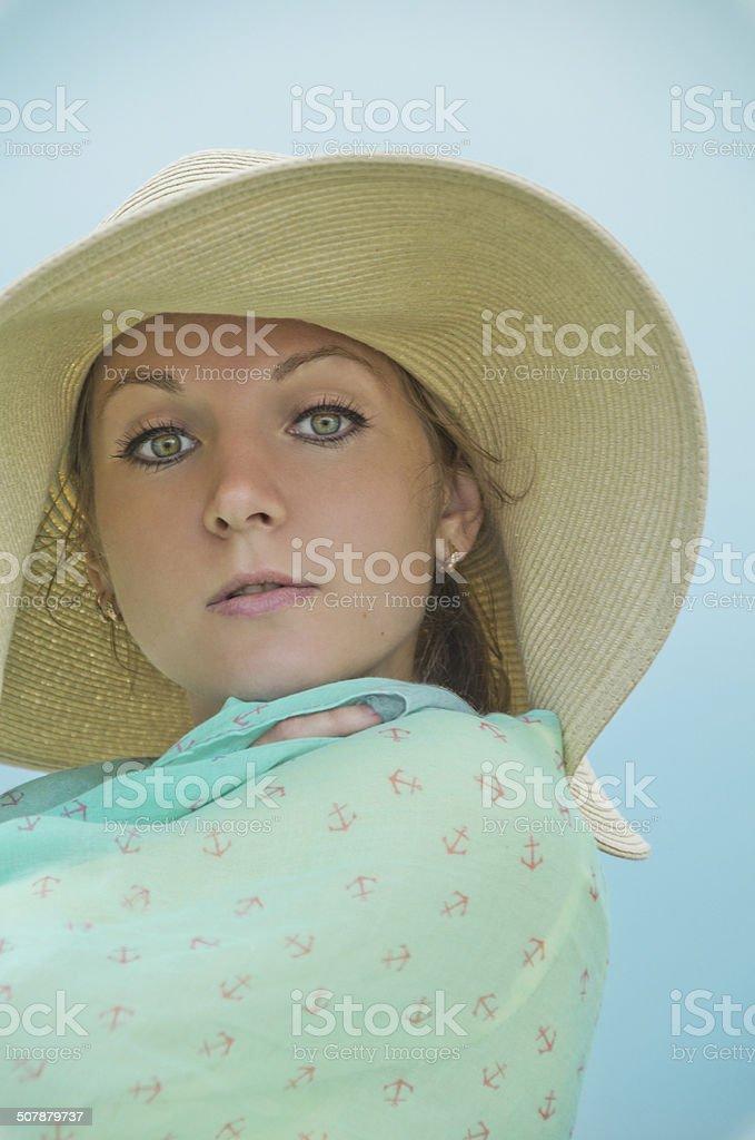 Rosto feminino foto de stock royalty-free