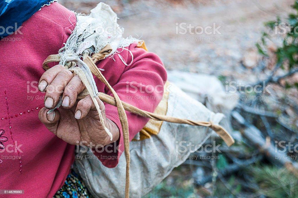 Female farmer stock photo