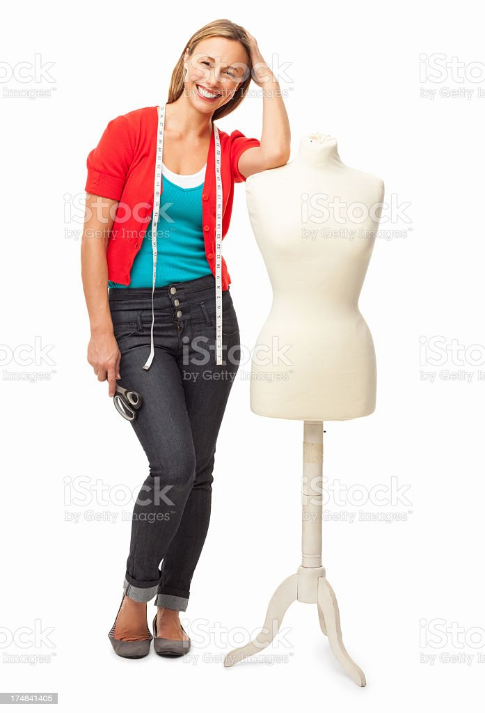 Female Fashion Designer - Isoalted royalty-free stock photo