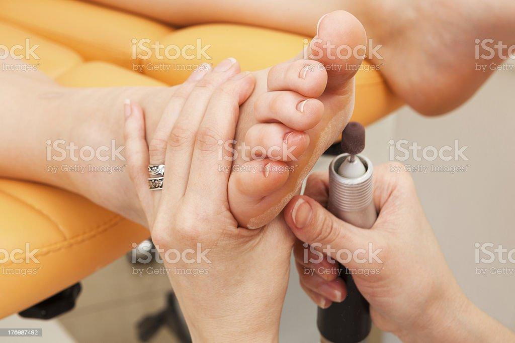 female feet pedicure royalty-free stock photo