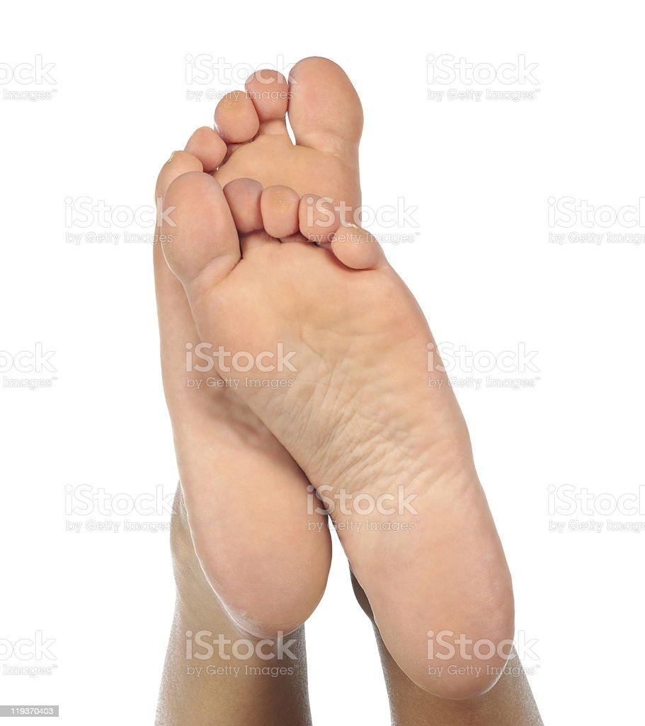 Female feet royalty-free stock photo