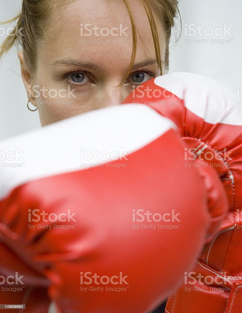 Female fighter royalty-free stock photo