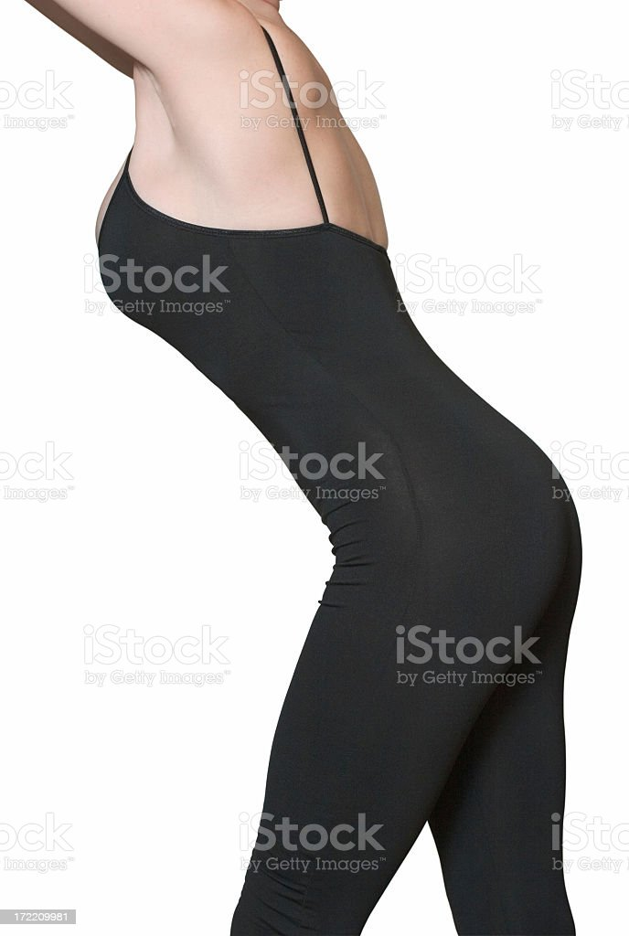 Female figure (clipping path) stock photo