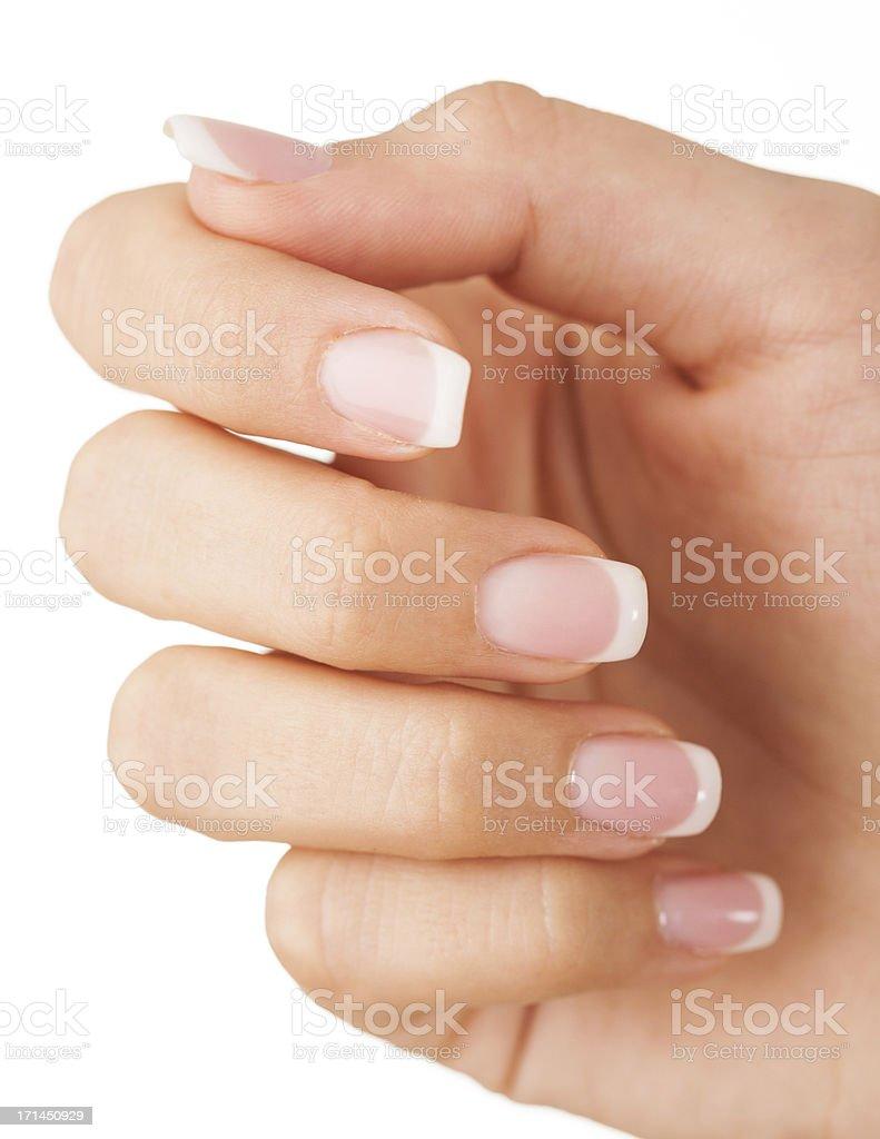 Female fingernails stock photo