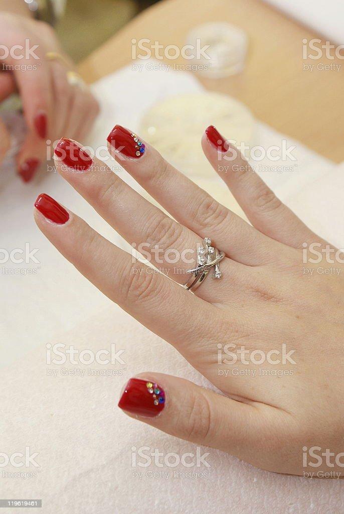 female fingers royalty-free stock photo