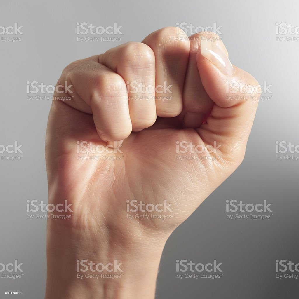 Female fist royalty-free stock photo